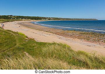 The Gower beaches Port Eynon wales - Port Eynon Bay The...