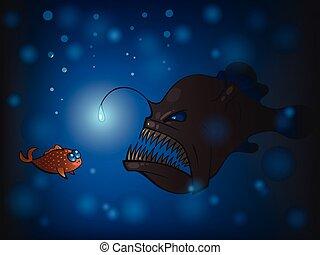 Angler fish Stock Illu...