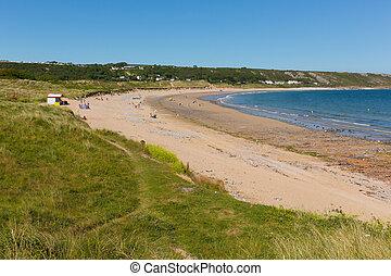 Port Eynon beach The Gower Wales - Port Eynon Bay The Gower...