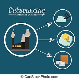Outsourcing design - Outsourcing digital design, vector...
