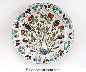 ottoman plate - valuable ottoman plate isolated at white...