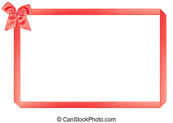 red holiday frame, perfectly isolated on white background...