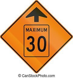 Temporary Maximum Speed 30 Kmh Ahead in Canada - Temporary...