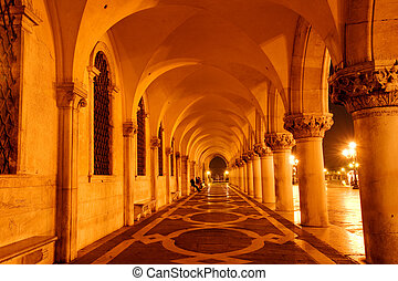 Doges palace - Passage in famous Venetian Palazzo Ducale at...