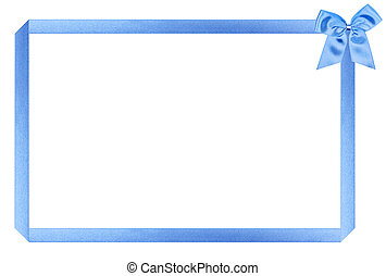 blue holiday frame, perfectly isolated on white background (very easy to cut out)