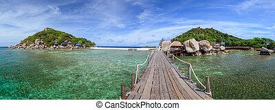 Nangyuan, isla, Suratthani, meridional, de, Tailandia,