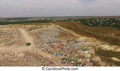 Big Urban Waste Dump At Suburbs In Ukraine - In the frame...