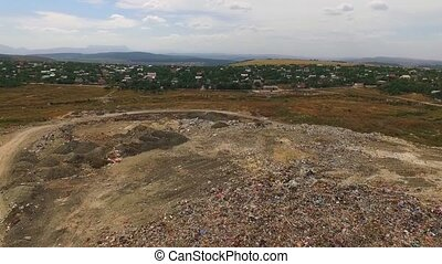 Huge Urban Waste Dump At Suburb In Ukraine - This is an...