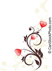 Valentine\'s Day card - Valentine\'s Day heart with florals...