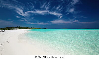 Romantic sandy beach in Maldives - Romantic sandy beach with...