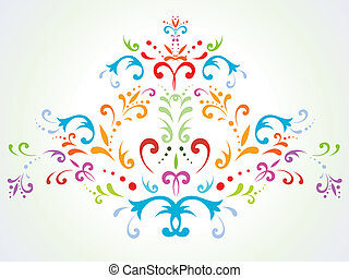 multicolored floral abstract decoration