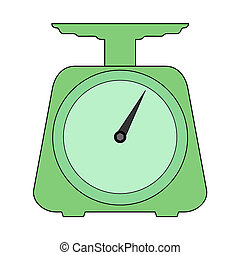 scales for kitchen - vector illustration of scales, domestic...