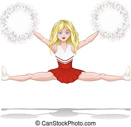 Cheerleader Doing A Split