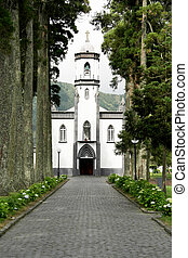 Church of Sete Cidades, Sao Miguel, Portugal