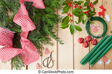 Crafting and Advent garland - Materials for crafting and...