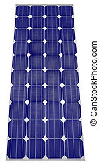 Blue Solar panel - Solar panel Isolated on white background...