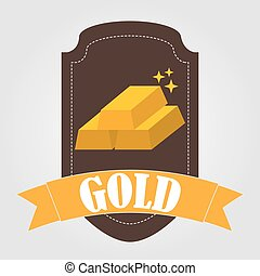 bullion gold design, vector illustration eps10 graphic