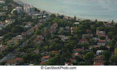 Mondello beach areal view - Mondello town and beach areal...