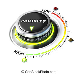 Define High Priority - Priority switch button positioned on...