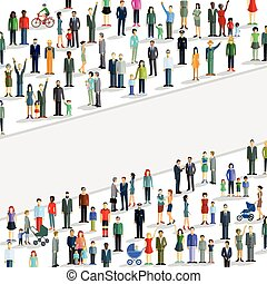 Personen Massen.eps - Large Crowd