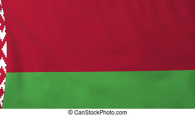Flag of Belarus, slow motion waving Rendered using official...