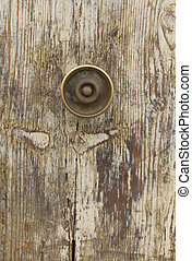 detail of old wooden door