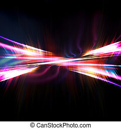 Abstract Fractal Texture - A glowing fractal design that...