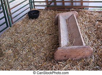 Farm animal feeder
