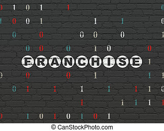 Business concept: Franchise on wall background