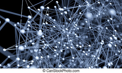 Abstract network molecule background - 3d visualisation