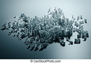都市, 抽象的