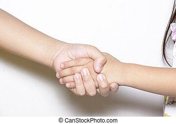 Shake hands or grasp hands - Shake hands between two peoples...
