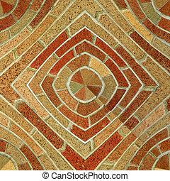 Abstract Seamless Brick Tile Pattern - A circular brick...