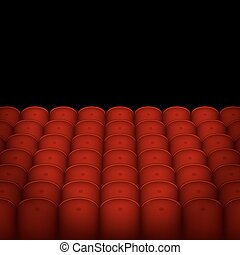 Red Cinema or Theater Seats with Black Blank Background...
