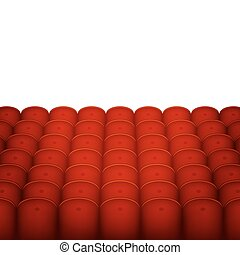 Red Cinema or Theater Seats with White Blank Background....