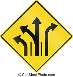 Three Lanes With Right And Left Turn Lane in Canada -...
