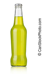 soda bottles, non-alcoholic drinks with clipping path