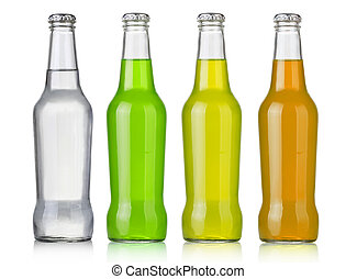 Water bottles - Four assorted soda bottles, non-alcoholic...