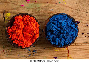 Complementary colours: orange and blue - In the colour...