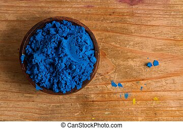 Primary colours: Blue - In painting and in traditional...