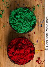 Complementary colours: green and red - In the colour wheel,...