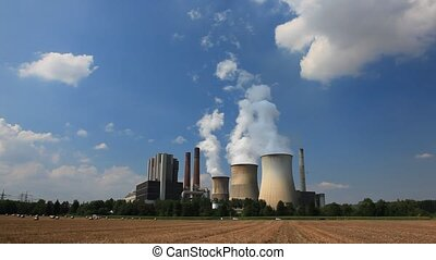 Nuclear power plant   - Nuclear power plant cooling towers