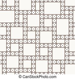Vector seamless pattern of the dominoes - Vector seamless...