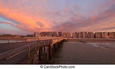 The Belgium Pier at dusk