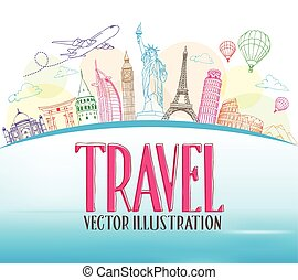 Travel The World Design Background - Travel Concept Design...