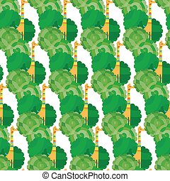 Thousand Giraffe Pattern