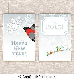 Christmas Card With Bullfinch