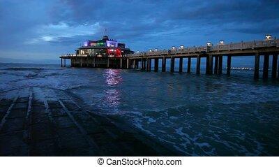 The Belgium Pier at night
