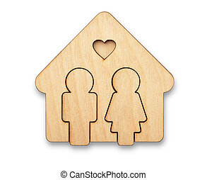 House of love - Concept of loving couple in new house
