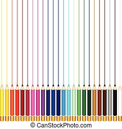 Colored pencils - Scalable vectorial image representing a...